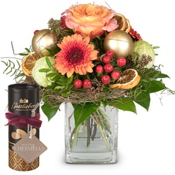 """Christmas Wonder, Gottlieber cocoa almonds and hanging gift tag """"Merry Christmas"""""""