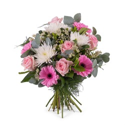 Bouquet of Anastasias and Roses (Vase Not Included)