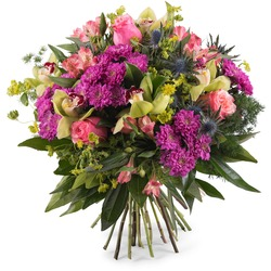 Bouquet with Roses and Orchids (Vase Not Included)