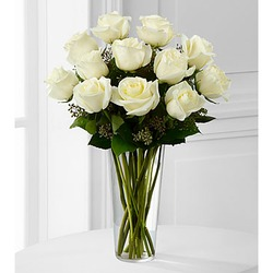 The White Rose Bouquet by FTD - VASE INCLUDED