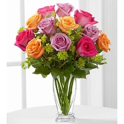 The Pure Enchantment Rose Bouquet by FTD - VASE INCLUDED