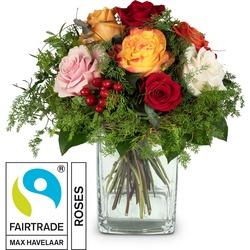 Magic of Roses with Fairtrade Max Havelaar-Roses (Vase not included)