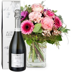 Spring Greeting with Prosecco Albino Armani DOC (75cl) (Vase not included)