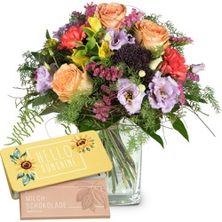 """Symphony of Colors bar of chocolate """"Hello Sunshine"""" (Vase not included)"""