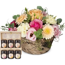 Gentle Spring Melody with honey gift set