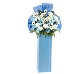 Memories Remain with Sympathy Flower Stand