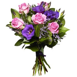 Pink and Purple Love Bouquet (Vase Not Included)