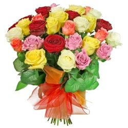 A Bouquet of Colourful Roses (Vase Not Included)