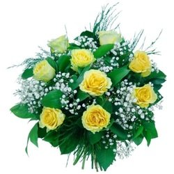Yellow roses bouquet (Vase Not Included)