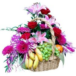 Flower Composition with Fruit